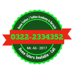 Home Tuition, Tuition Academy in Karachi, 03222334352