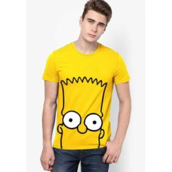 bart-round-neck-t-shirt-yellow