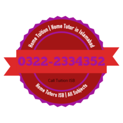 Home Tuition, Home Tutors, Home Teacher in Islamabad, 03222334352