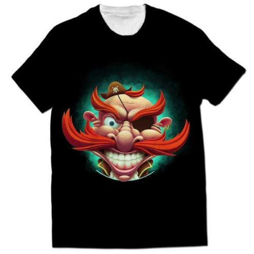 pirate all over printed t-shirts