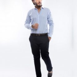 SKY BLUE STRIPED PREMIUM FORMAL SHIRT